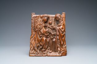 An oak Saint Anne Trinity group, Rhine Valley, Germany, ca. 1480