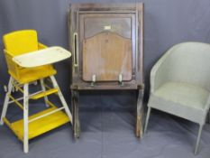 VINTAGE UTILITY/HOUSEHOLD FURNITURE, three items including a Shanks & Co Ltd mahogany cistern