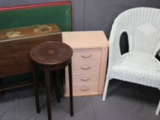 VINTAGE & LATER FURNITURE PARCEL, five pieces to include a small painted oak four drawer