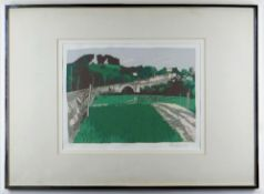 SARAH HOPKINS limited edition (7/30) screenprint - Llandeilo, signed and dated in pencil 1988, 29