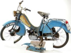 VINTAGE BOWN 47cc MOPED, c. 1959, engine no. 2714217 in blue and white Auctioneer's Note: A marque
