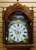 EARLY 19TH CENTURY WELSH MAHOGANY 8-DAY LONGCASE CLOCK, Joseph Kern of Swansea, 12in. arched,
