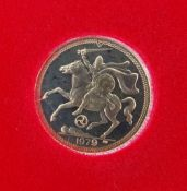 ELIZABETH II GOLD HALF SOVEREIGN, 1979, limited edition of 30,000 with COA Condition Report: in very