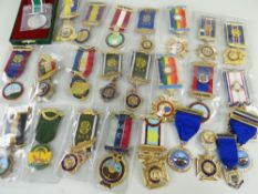 ASSORTED R.A.O.B. (BUFFS) MEDALS, mostly in slip cases with ribbons together with a few others