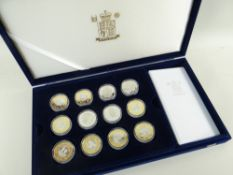 ROYAL MINT 2000 QUEEN MOTHER CENTENERY COLLECTION SILVER PROOF SET OF 12 COINS IN CASE OF ISSUE WITH