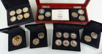 BRADFORD EXCHANGE WWII GOLD PLATED COMMEMORATIVE PROOF COINS, comprising 'Battle of Britain',