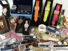 ASSORTED LADIES FASHION WATCHES some boxed, approx. 50