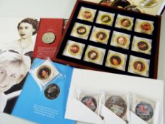 COMMEMORATIVE CUPRONICKEL PROOF COINS / MEDALLIONS: 'Kings & Queens of the UK', boxed set of 13 Cu