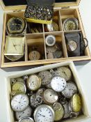 COLLECTION OF TWENTY-FIVE VARIOUS POCKET WATCHES, a few in silver cases, mostly 20th Century (