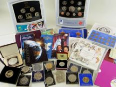 ASSORTED MIXED COINS comprising 1978 Bahamas $10 silver proof coin, 1997 trade dollar, 2002
