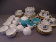 30 PLUS PIECE SHELLEY BONE CHINA TEASET, Susie Cooper part 'Tea for One' and a floral decorated