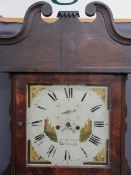 JONES BETHESDA LONGCASE CLOCK (requiring restoration), 14inch square painted dial, the cast