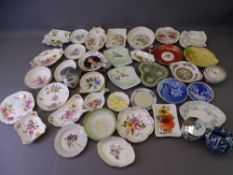 POTTERY & PORCELAIN PIN DISHES COLLECTION by Shelley, Royal Crown Derby, Carltonware, Copenhagen,