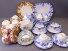 SHELLEY DAINTY BLUE TEAWARE approximately 30 pieces with a Victorian part teaset ETC