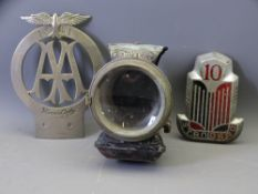 AUTOMOBILIA - an early white metal AA badge, No 1341 with added eagle to the top and bearing the