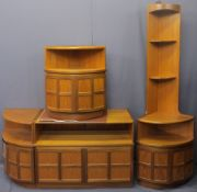 NATHAN COMBINATION FURNITURE, four pieces to include floor standing corner unit, 194cms H, 63cms