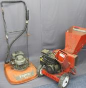 A 'MTD' 5hp SHIP CHIPPER/SHREDDER and a Flymo Contractor GTZ petrol hover mower
