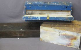 CARPENTER'S WOODEN TOOLBOXES (3)