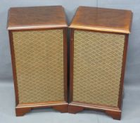 DYNATRON MAHOGANY CABINET TYPE SPEAKERS, a pair, Model No LS6838PM, 61.5cms H, 33cms W, 27cms D