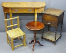 VINTAGE & REPRODUCTION OCCASIONAL FURNITURE, four items to include inlaid walnut single drawer