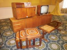 MID-CENTURY TEAK FURNITURE ENSEMBLE, five items to include A H McIntosh & Co Ltd Kirkcaldy