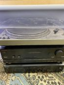 TECHNICS SL-1800 DIRECT DRIVE TURNTABLE, Optimus SA-2002 amplifier and a Sony CD separate