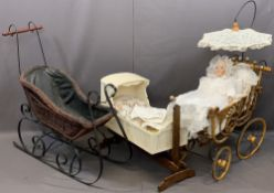 COLLECTOR'S DOLL 'A Christening' by Danbury Mint with associated display items to include a wicker