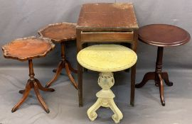 VINTAGE & REPRODUCTION GROUP OF OCCASIONAL/SIDE TABLES including a rectangular top side table with