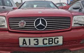 MERCEDES 300SL AUTO, REGISTRATION NO: A13 CBG - red, hard and soft tops, petrol, lady owner,