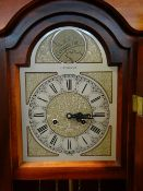 MODERN STAINED BEECH LONGCASE CLOCK, dial signed C. Wood & Sons