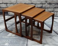 G-PLAN 'QUADRILLE' NEST OF THREE TEAK OCCASIONAL TABLES, designed by Robert Bennett (3)