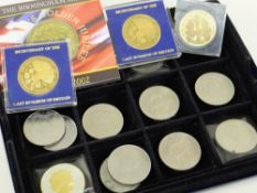 SMALL COLLECTION OF COMMEMORATIVE COINS including 2006 £5 crown, uncirculated, 2006 Jersey £5 crown,