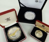 CONCORDE SILVER COINS comprising The Alderney 2008 £10 Concorde silver proof coin in box with