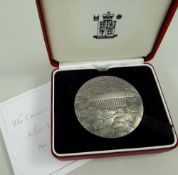 CASED ROYAL MINT 'THE CHOICE IS OURS' SILVER MEDALLION by Ron Dutton, 154gms, No. 153 with
