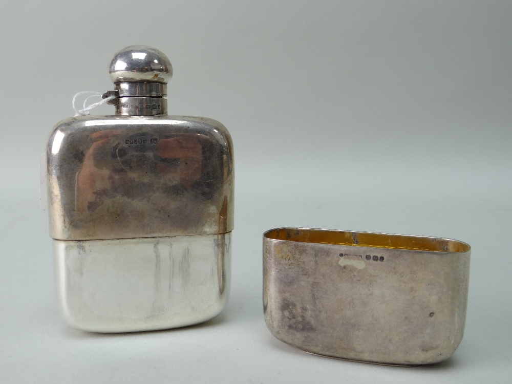 VICTORIAN SILVER HIP FLASK with presentation engraving 'Presented to Mr Robert Whittaker as a - Image 3 of 7