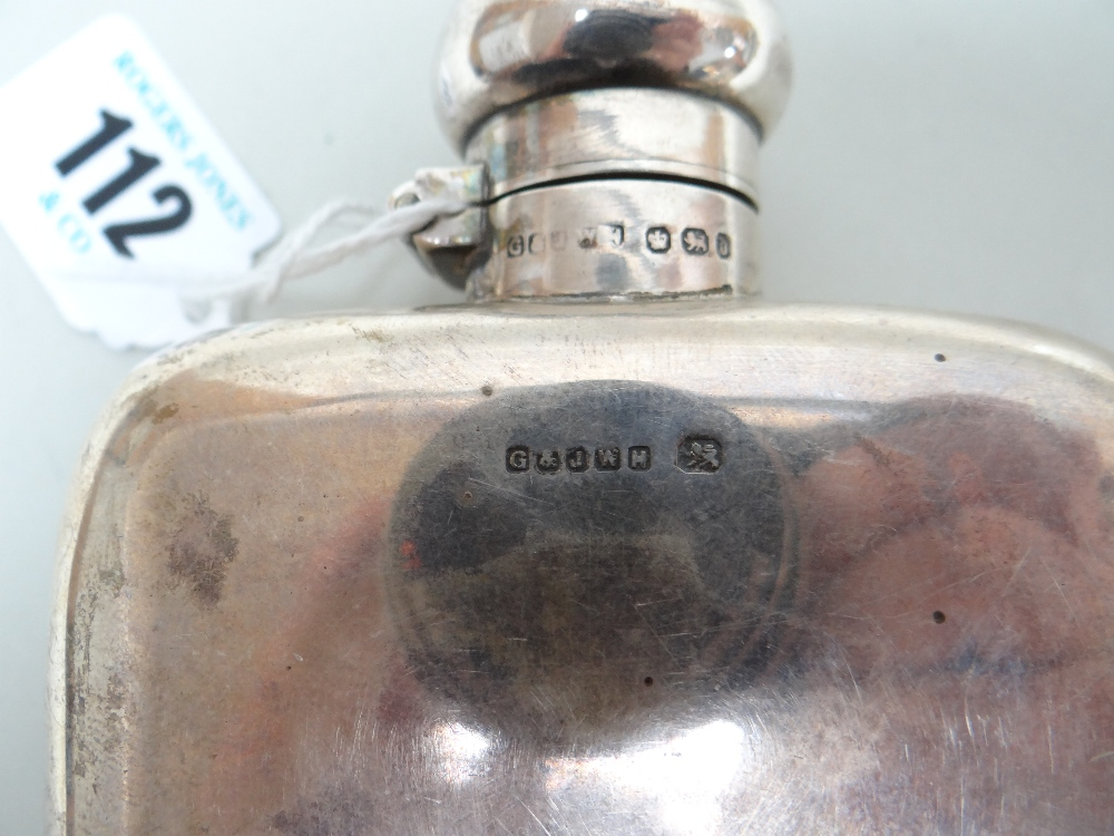VICTORIAN SILVER HIP FLASK with presentation engraving 'Presented to Mr Robert Whittaker as a - Image 7 of 7