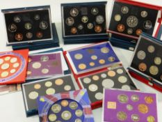 ASSORTED CASED COLLECTORS COIN SETS comprising coinage of GB & NI 1970, 1980 and 1982 together