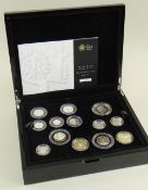 ROYAL MINT 2010 UK SILVER PROOF COIN SET, cased with Certificate of Authenticity, No. 0849 (13 coins