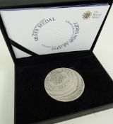 THE 2011 ROYAL MINT SILVER MEDAL, Limited Edition No. 97 of 500 with Certificate of Authenticity