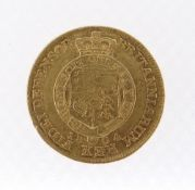GEORGE III GOLD HALF GUINEA, 1804, laureate head right, shield in garter, 4.1gms