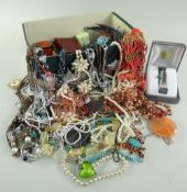 ASSORTED COSTUME JEWELLERY, mainly necklaces ETC