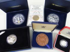 ASSORTED SILVER MILITARY COMMEMORATIVE COINS & MEDALS comprising The 65th Anniversary of the D-Day