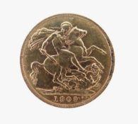 EDWARD VII GOLD SOVEREIGN, 1909, 8.0gms