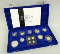 ROYAL MINT UK MILLENNIUM SILVER COLLECTION, cased with Certificate of Authenticity, No. 02136,