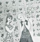 GERDA ROPER pencil on paper Entitled 'Idolatry' 51cm x 41cm framed