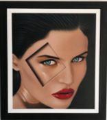 ANDY SHORT oil on canvas Entitled 'Harlequin' 63cm x 73cm framed in black