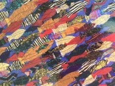 ANNIE BIELECKA mounted ltd edition print signed by artist Entitles 'Tropical Fish' 60cm x 40cm