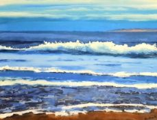 KEN ALLUM print signed by artist Entitled 'Breaking Wave' 51cm x 41cm