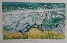 H TREHARNE JONES Ltd edition print 9/200 signed by artist Entitled 'St Donat's Bay, Autumn' pen, ink
