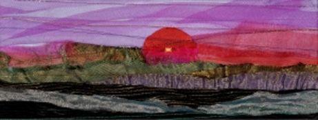 ANNIE BIELECKA ltd edition print signed by artist Entitled 'Red Icelandic Sunset' 36cm x 28cm